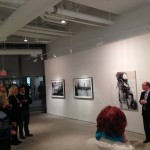 CG DJ Schneeweiss speaks at the launch of Spotlight on Israeli Culture — at Julie M. Gallery.