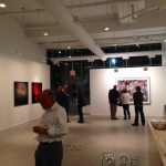 People arriving at the launch for Spotlight on Israeli Culture — at Julie M. Gallery.
